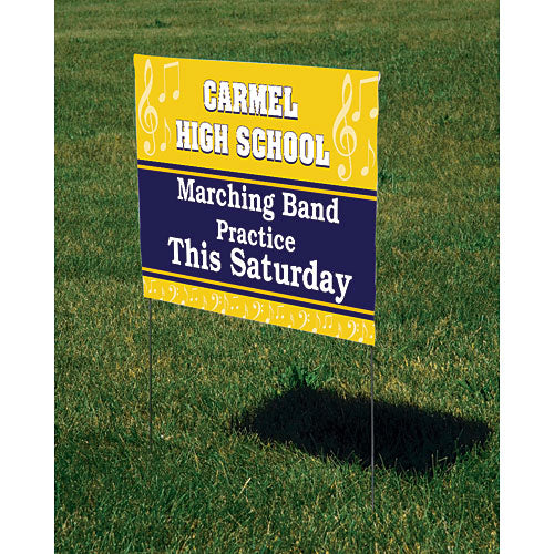 Band Personalized Yard Sign