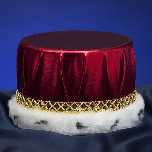 Metallic Red With Gold Trim Crowns