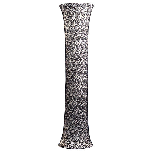 8 ft. Black Lace Covered White Column