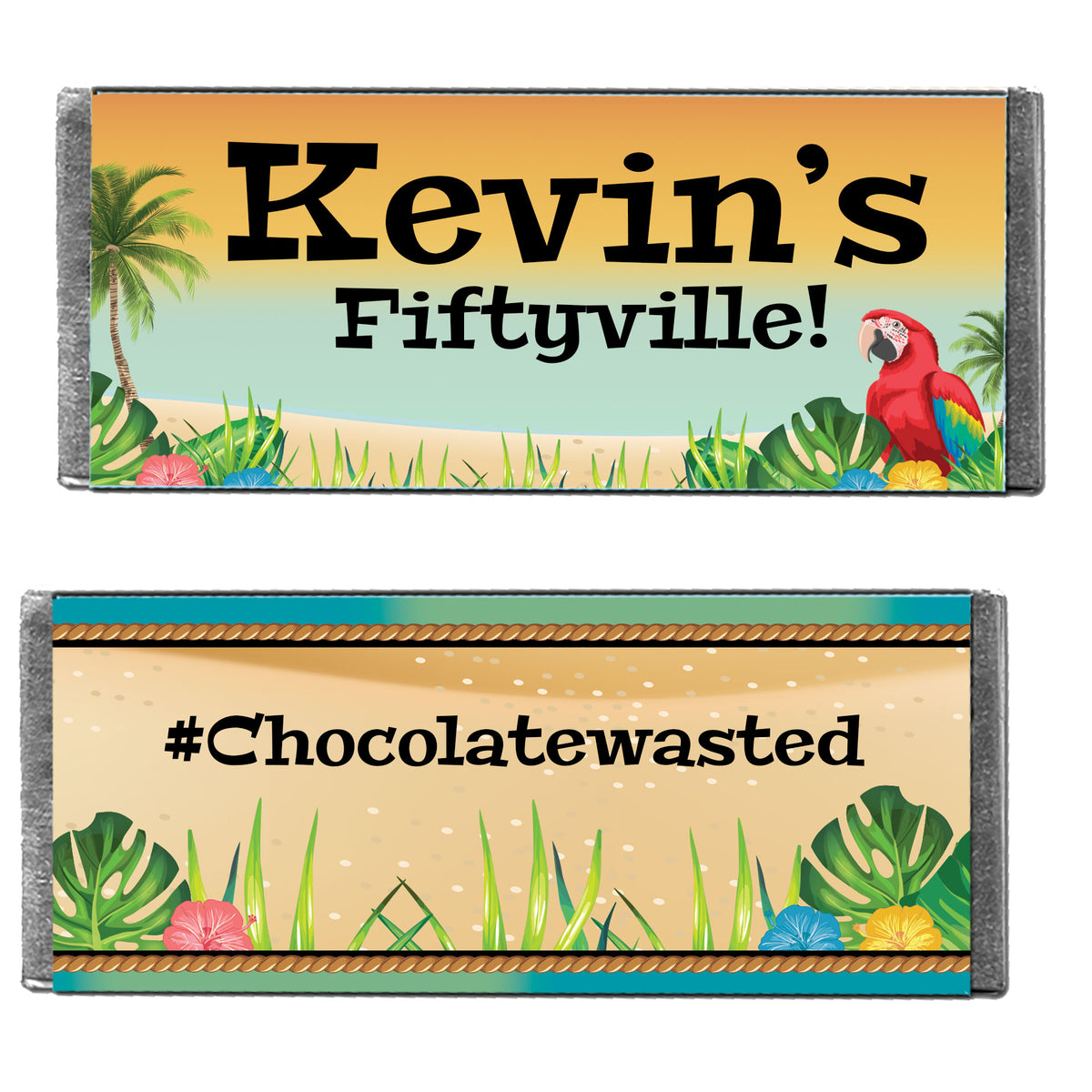 Hershey's It's Tiki Time Personalized Candy Bars
