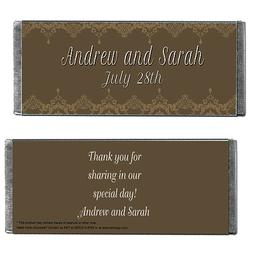 Hershey's Chocolate Formal Damask Personalized Candy Bars