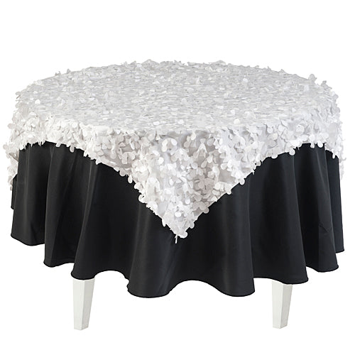 White Petal Fabric Overlay