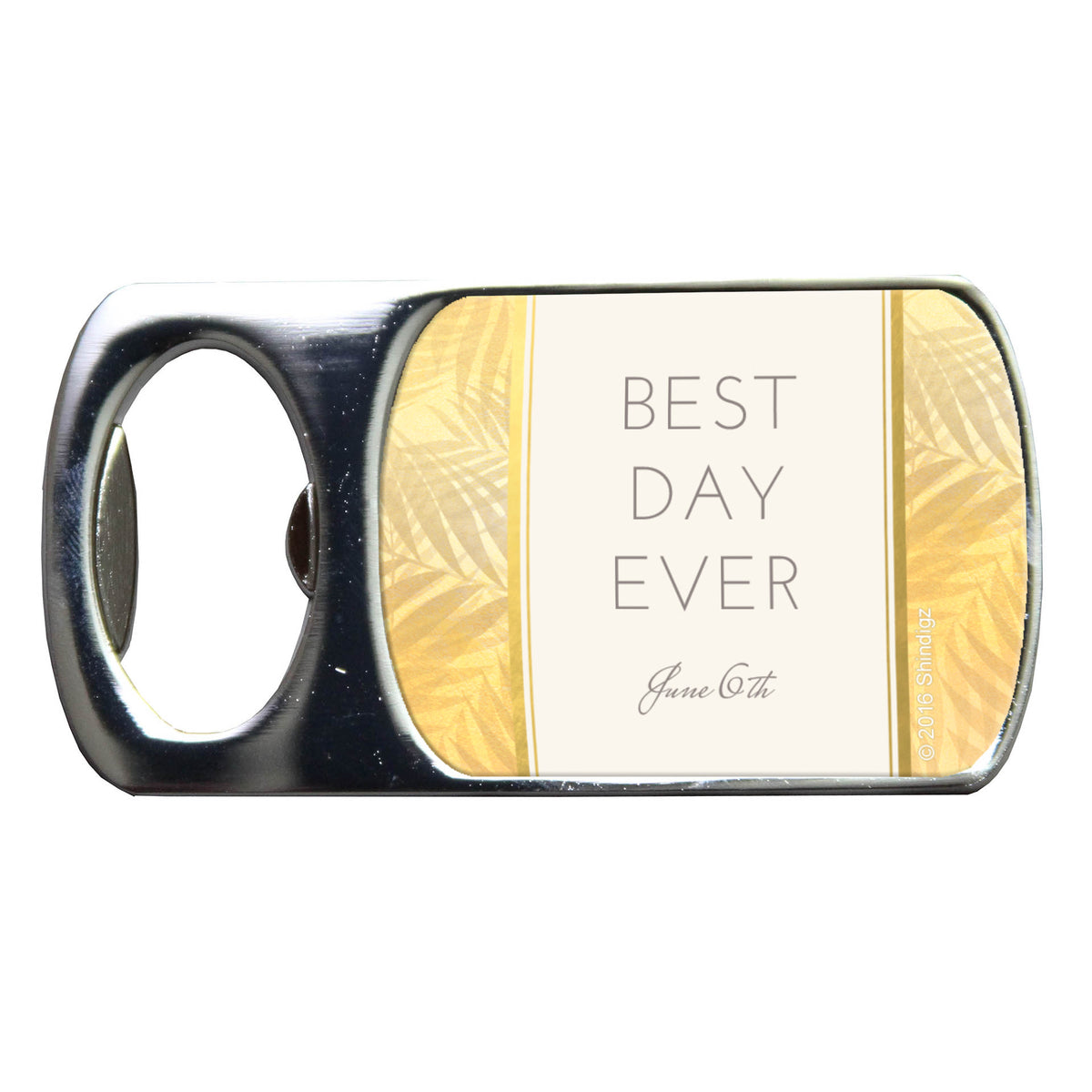 Tropical Elegance Personalized Bottle Opener