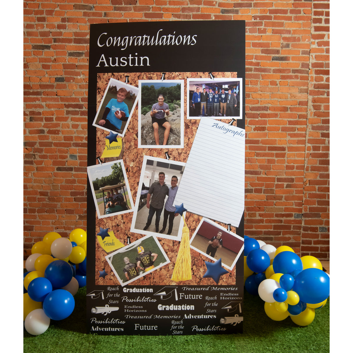 7 ft. 4 in. Memory Board Grad Standee