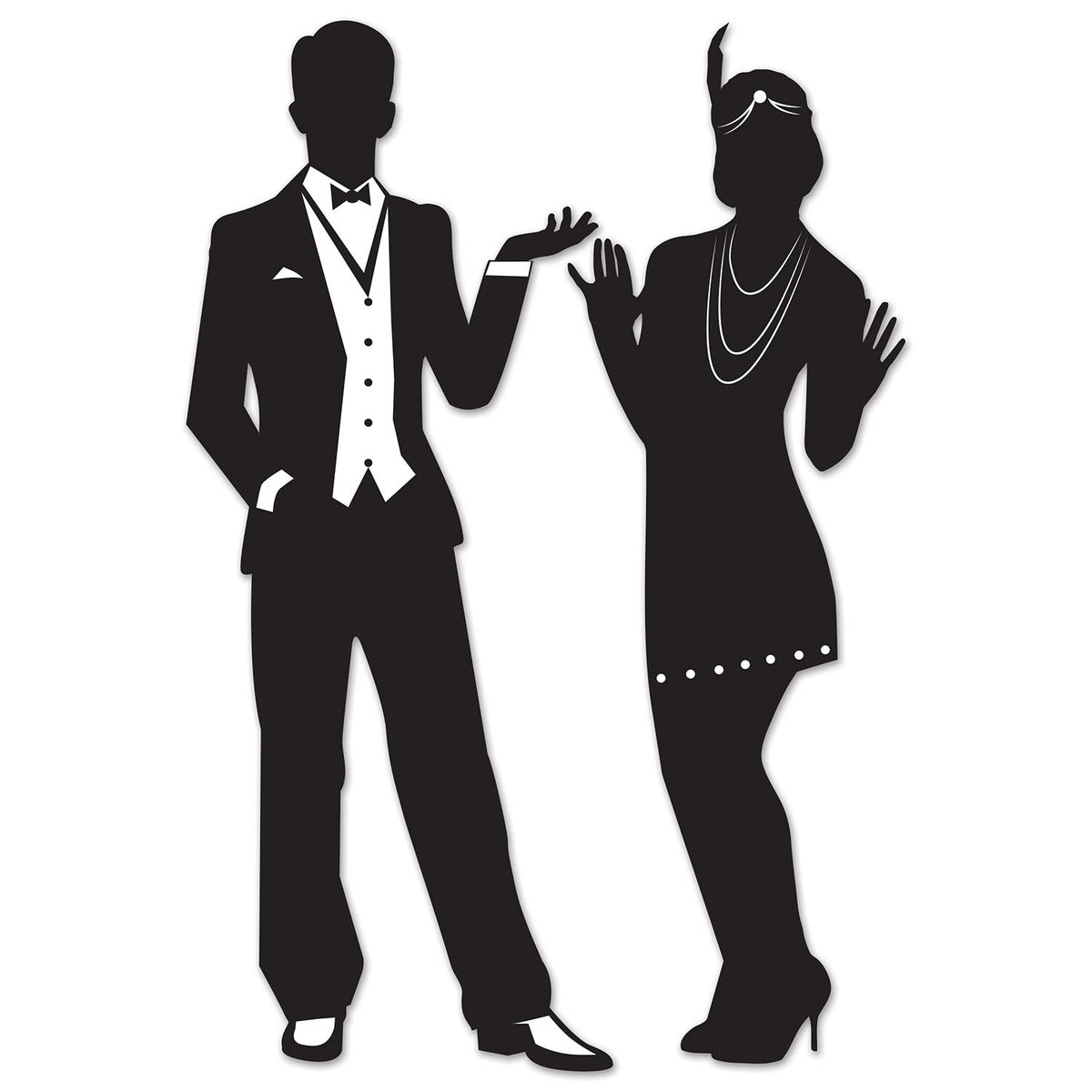 Great 20's Silhouette Cutouts