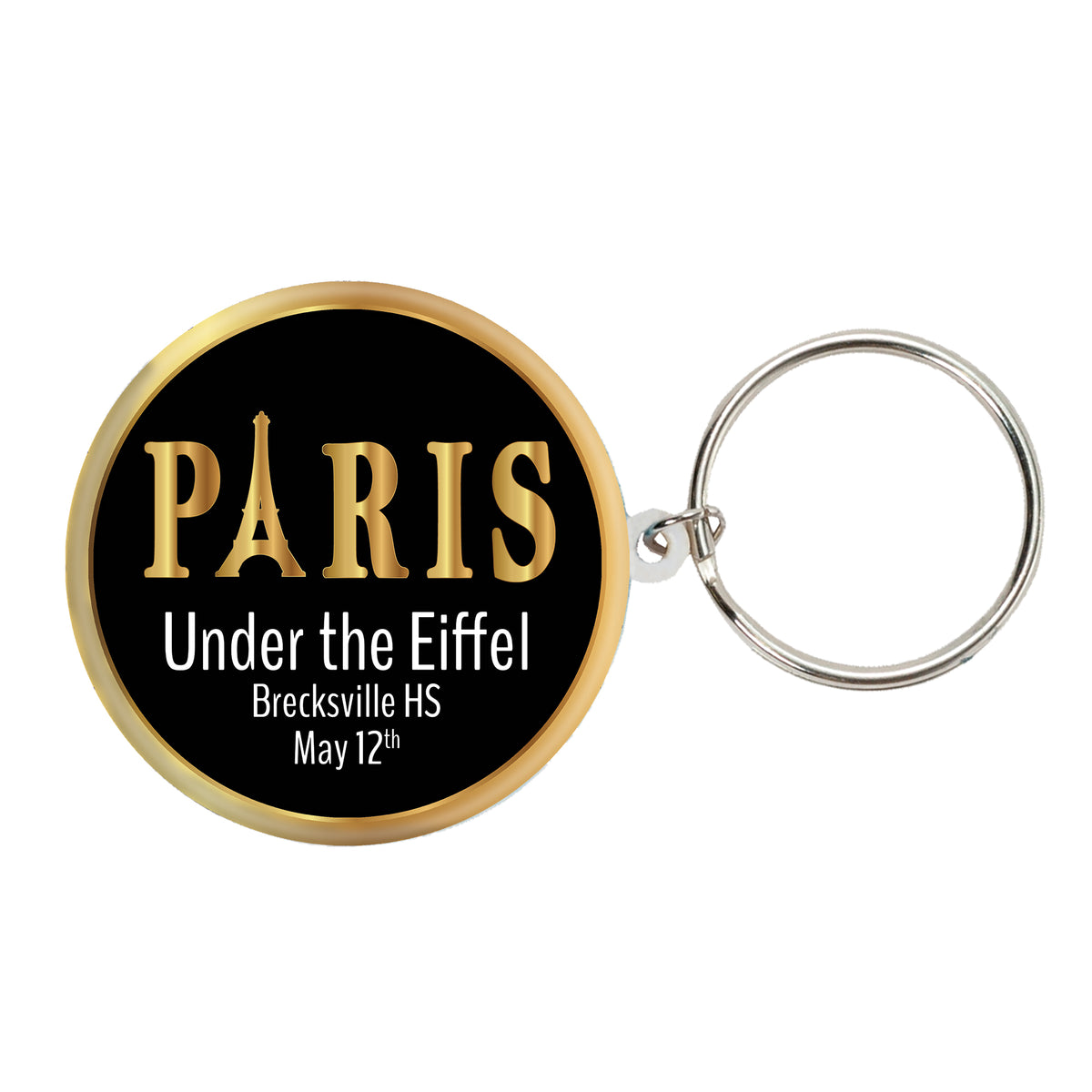 Under the Eiffel Personalized Key Chains