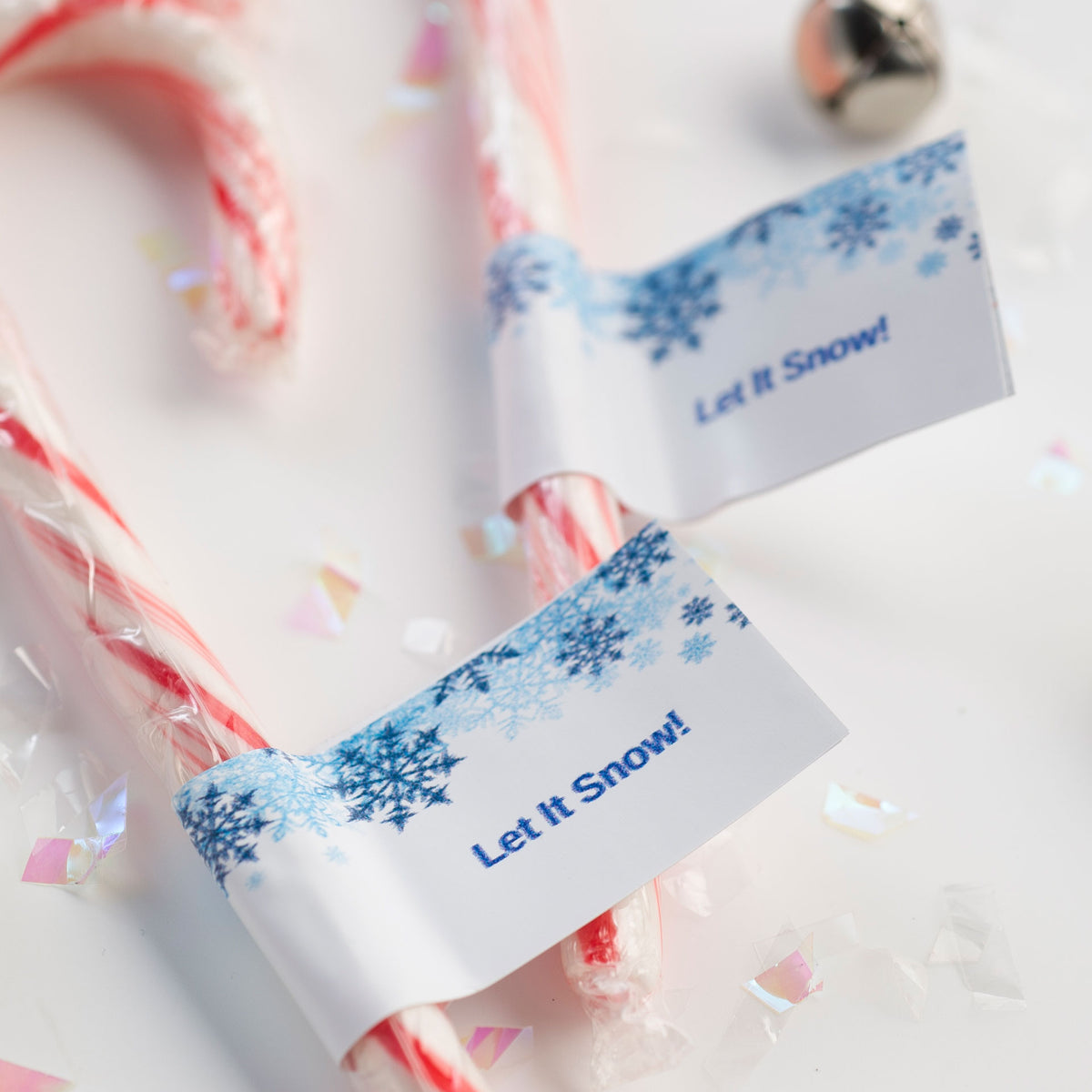 Let It Snow! Personalized Candy Cane Stickers