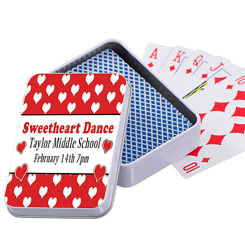Hearts Border Playing Card Case