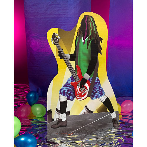 6 ft. Rock Star Bass Guitarist Standee