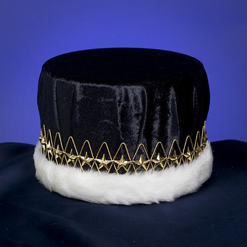 Black & Gold Regal Velvet Crown
