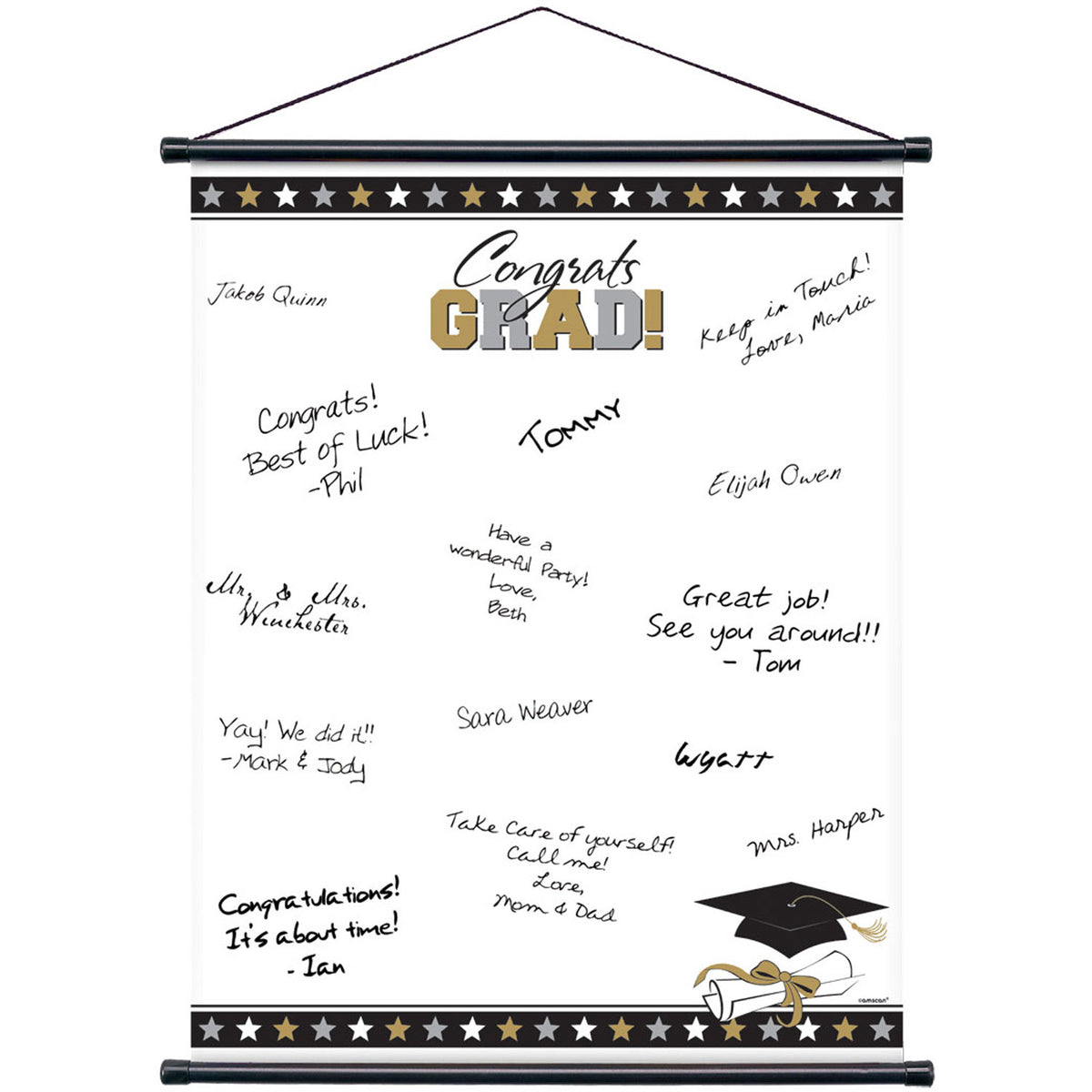 Grad Sign-In Scroll Sheet
