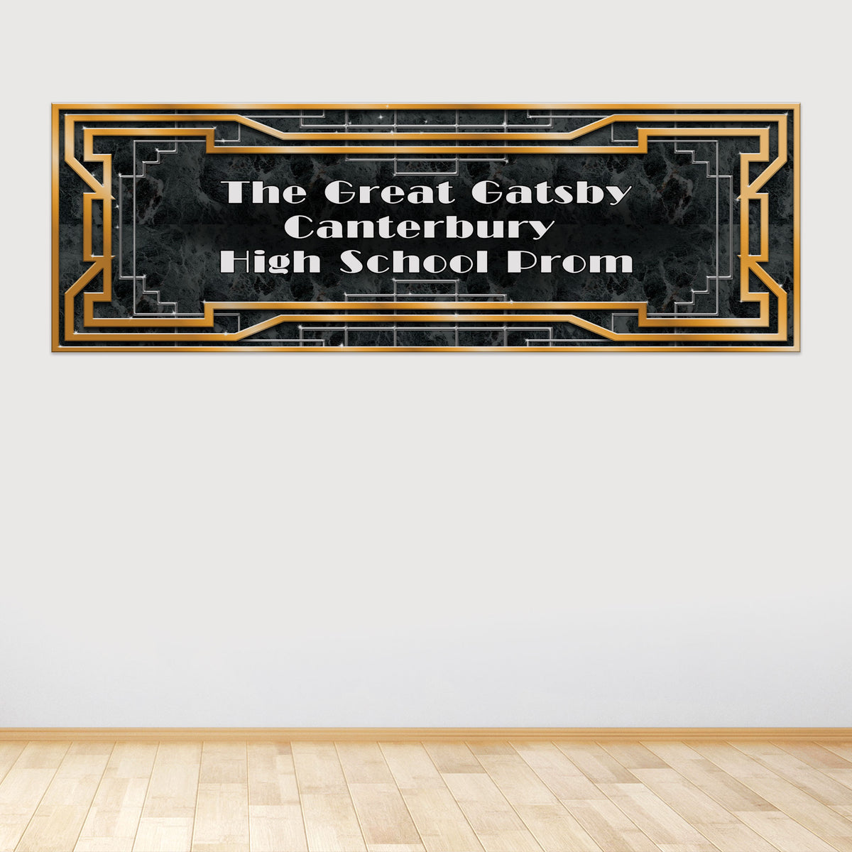 Art Deco Personalized Horizontal Wall Decal