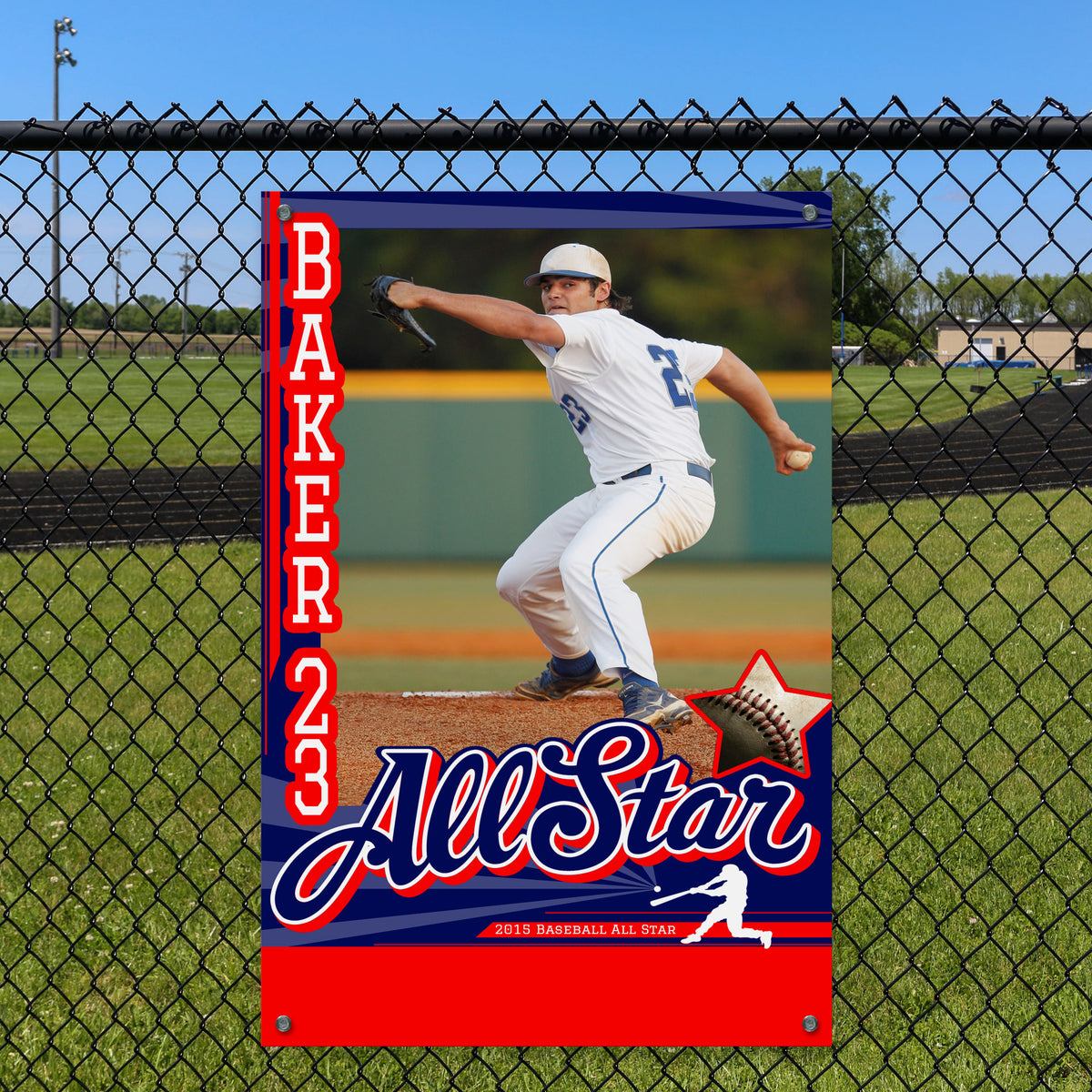 Baseball Personalized Poster Fence Sign