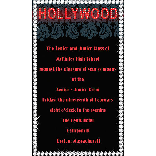Hollywood Glamor Invitations