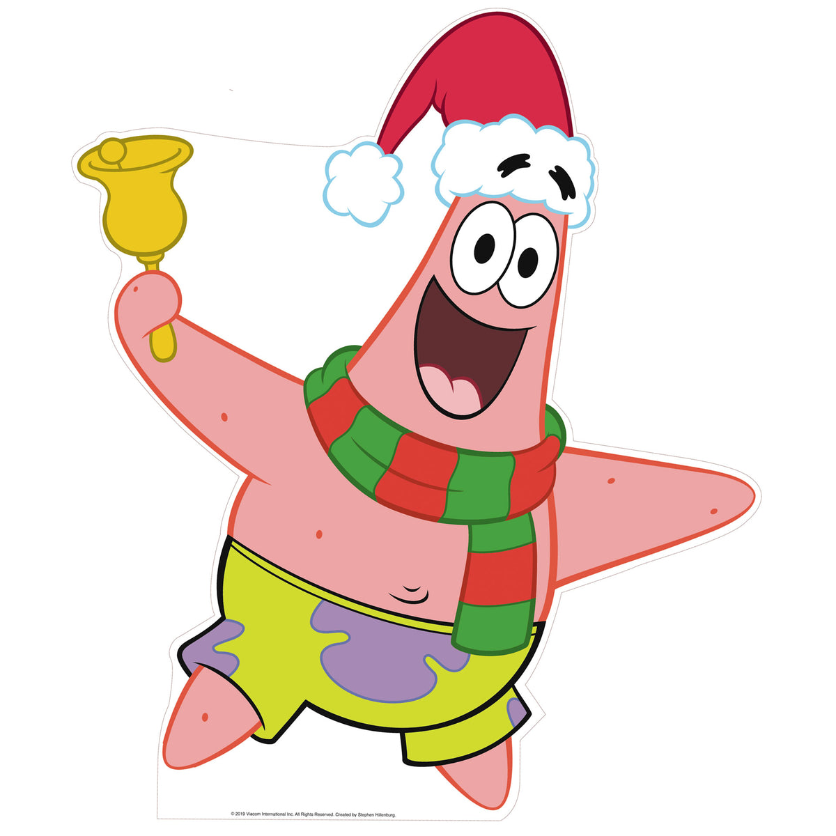 4 ft. 9 in. SpongeBob Patrick Christmas Standee