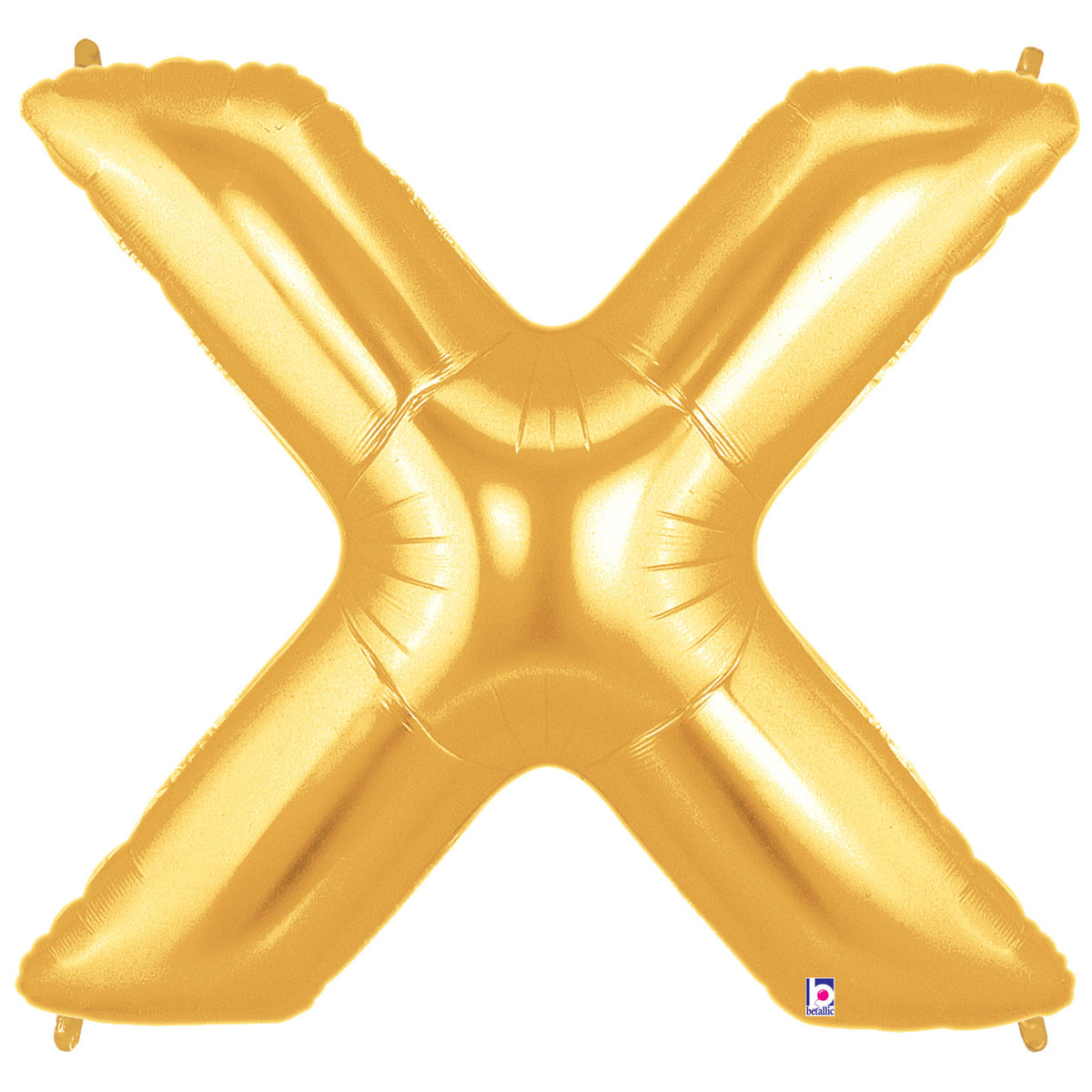Letter X Gold 40 in. Mylar Balloon