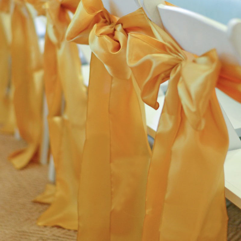 Gold Satin Chair Sashes