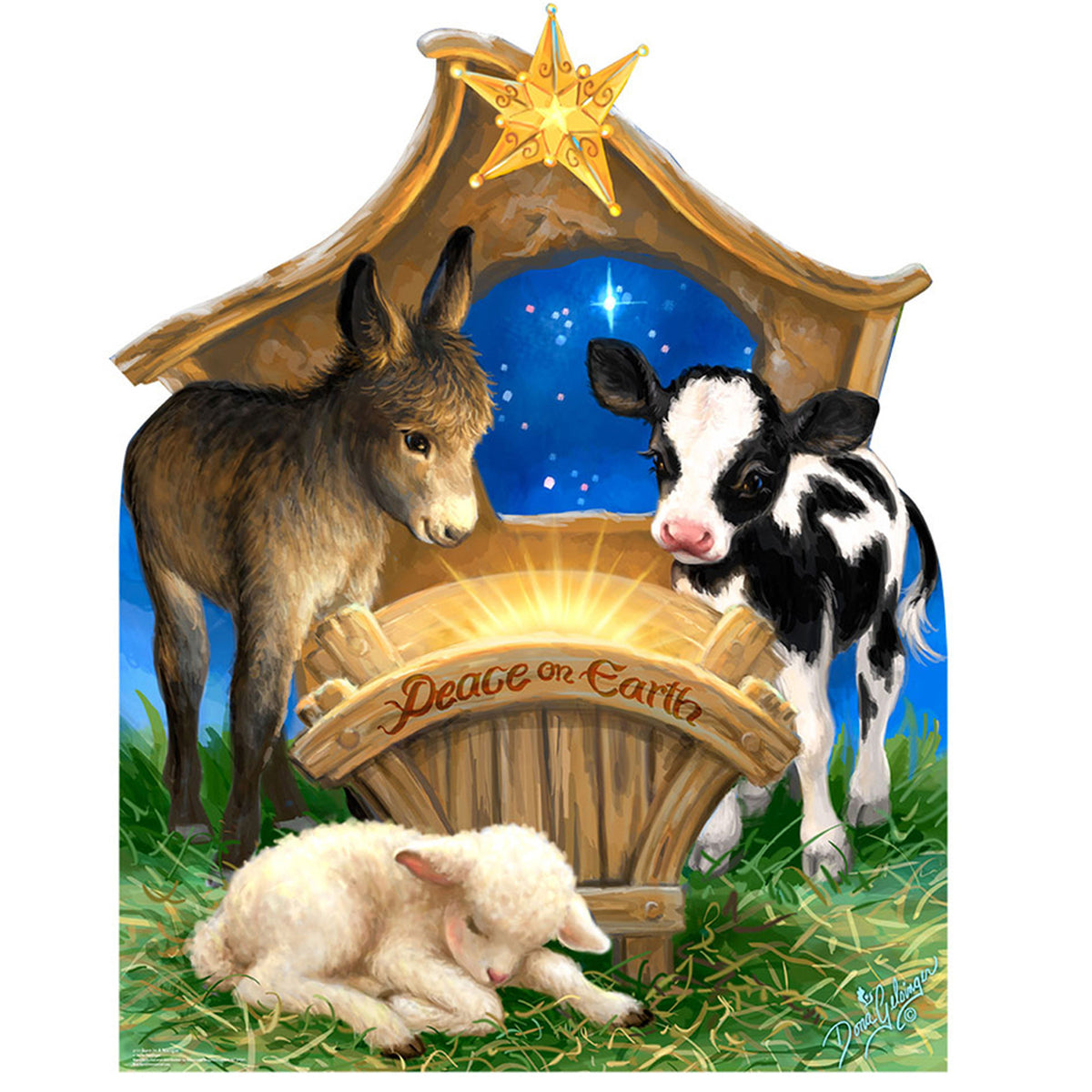 Born in a Manger Standee