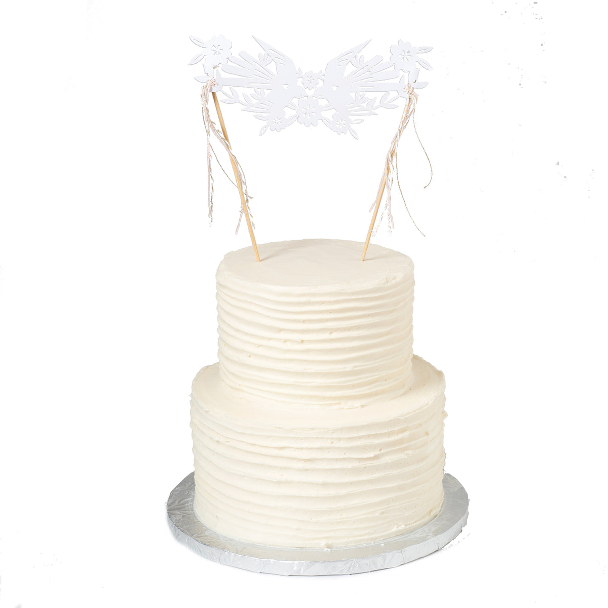 Lace Birds Cake Topper