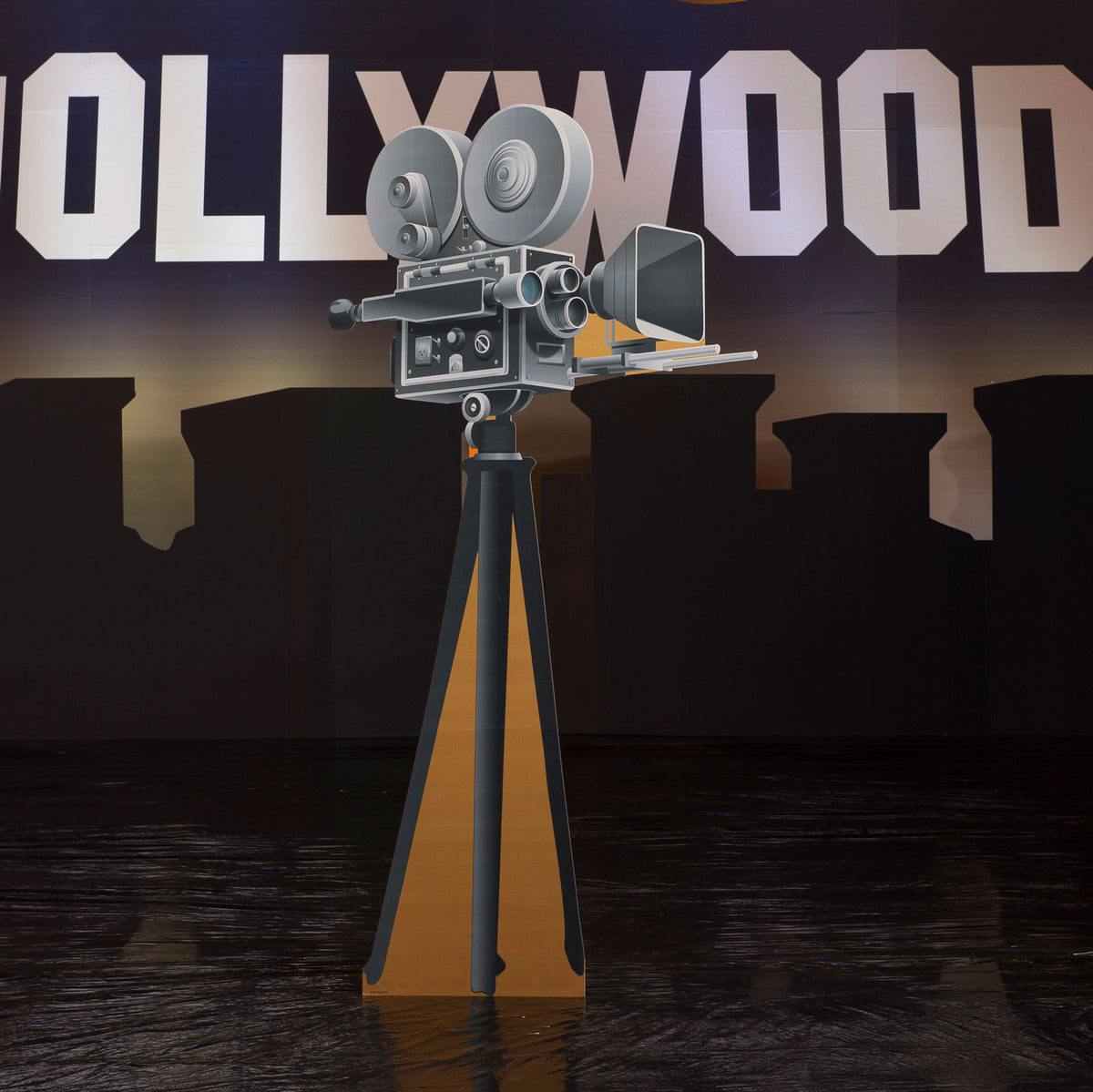6 ft. 2 in. Hollywood Hills Movie Reel Standee
