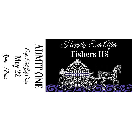 Black And Bling Fairytale Custom Tickets