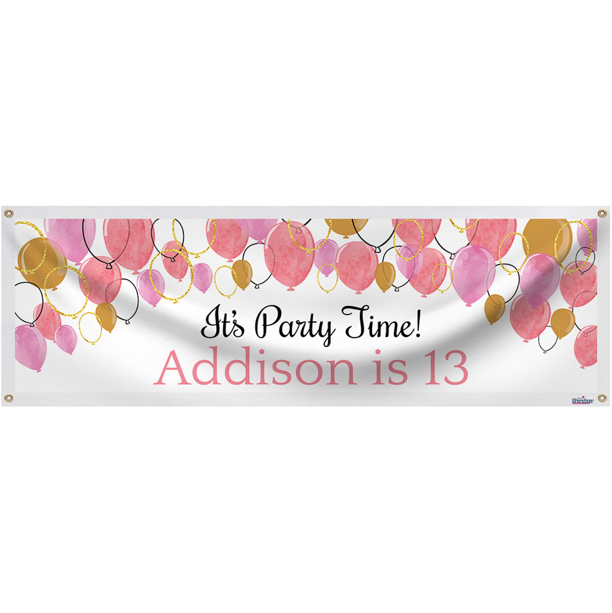Balloon Party Personalized Banner