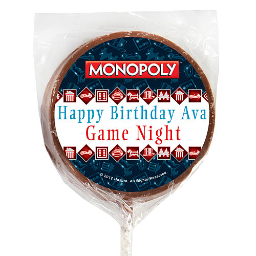 Monopoly Icons Chocolate Lollipops
