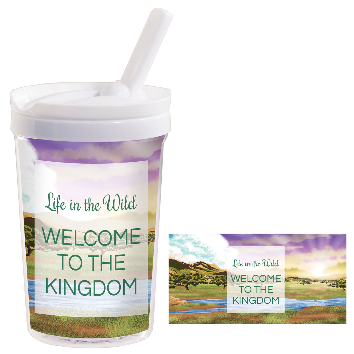 Life In The Wild Personalized Kids Tumbler