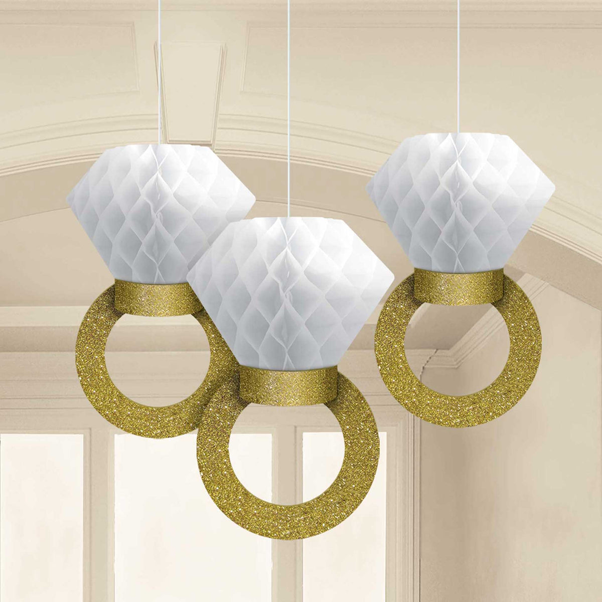 Tissue Ring Hanging Decorations