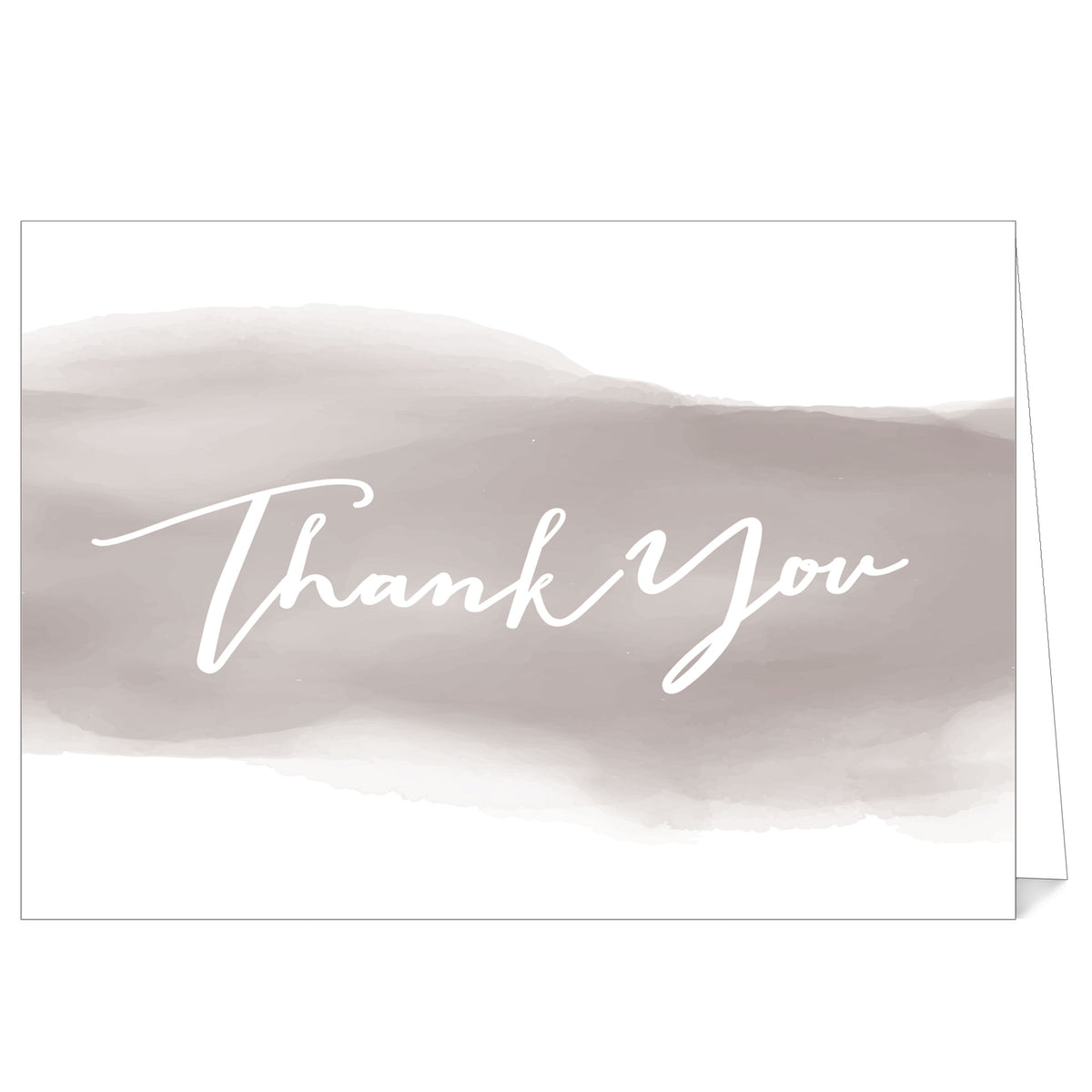 Watercolor Stroke Folded Thank You Cards