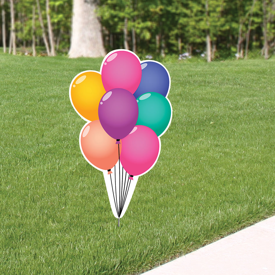Birthday Vibes Balloon Bouquet Yard Sign Expression Icon
