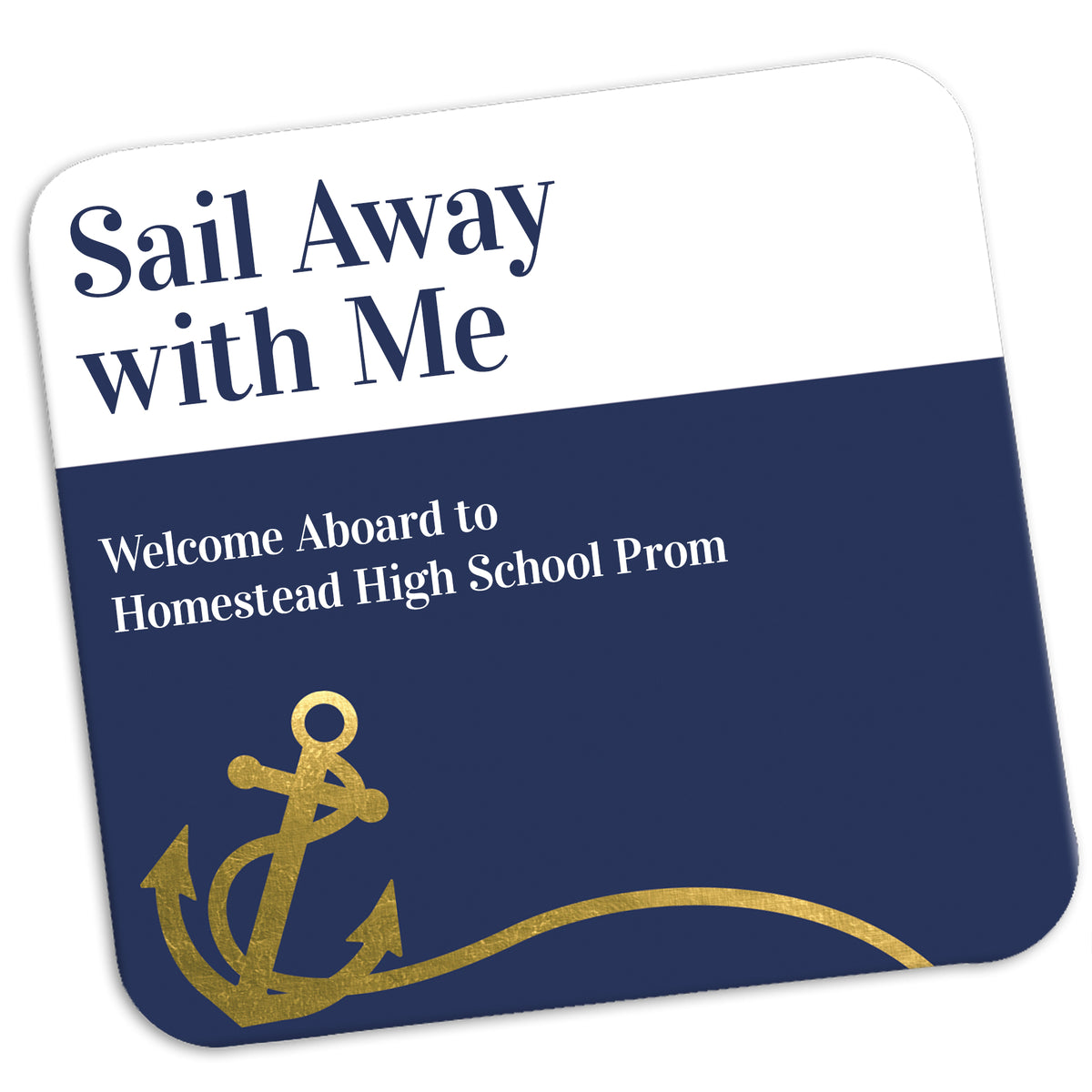 Sail Away Personalized Coasters
