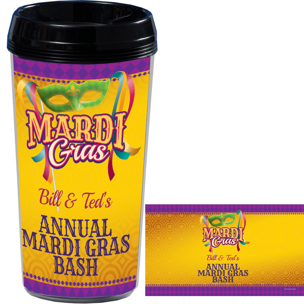 Bourbon Street Nightlife Travel Mug