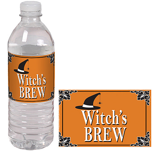 Witch'S Brew Water Bottle Labels