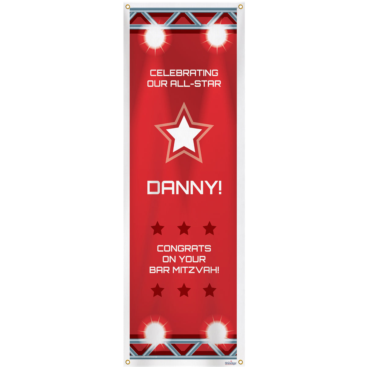 Primetime Sports Personalized Vertical Banner