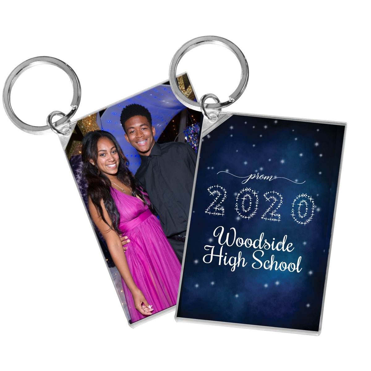 Starlit Night Personalized Acrylic Key Chain