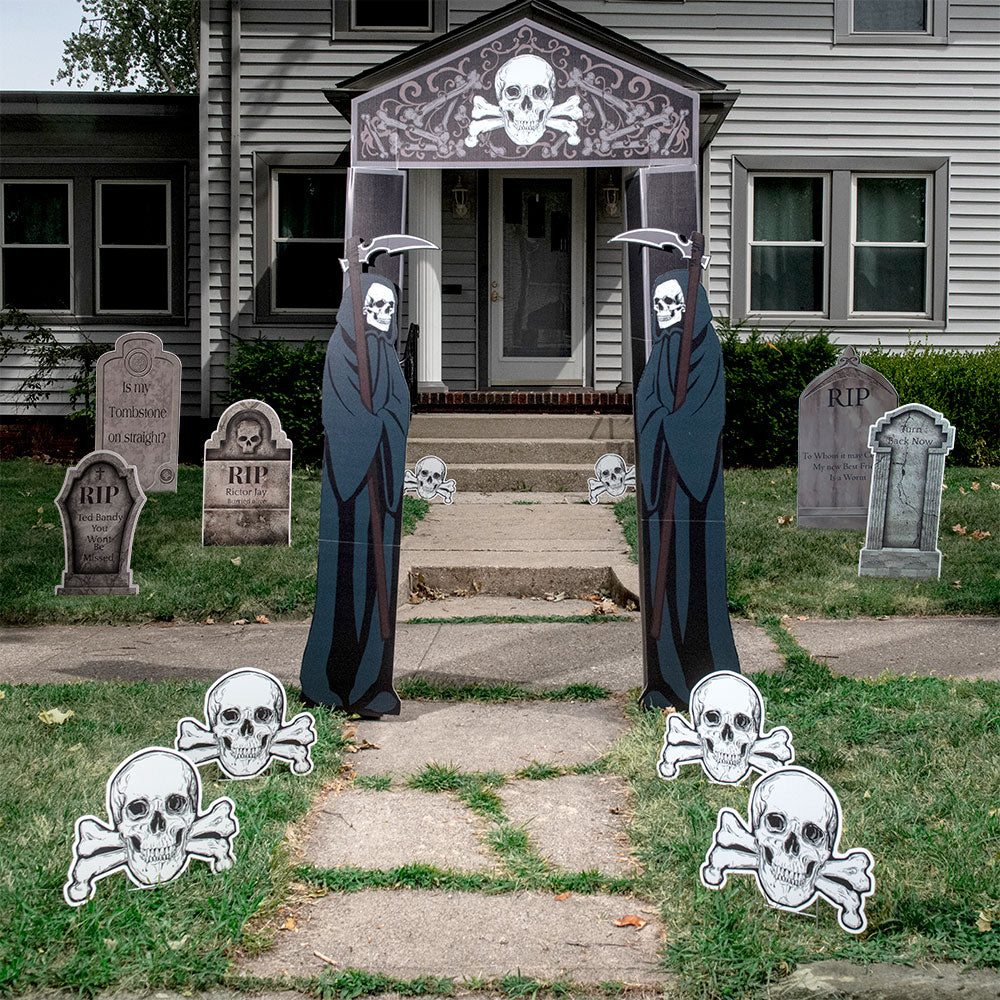 7 ft. 7 in. Corex Creepy Cemetery Archway Set