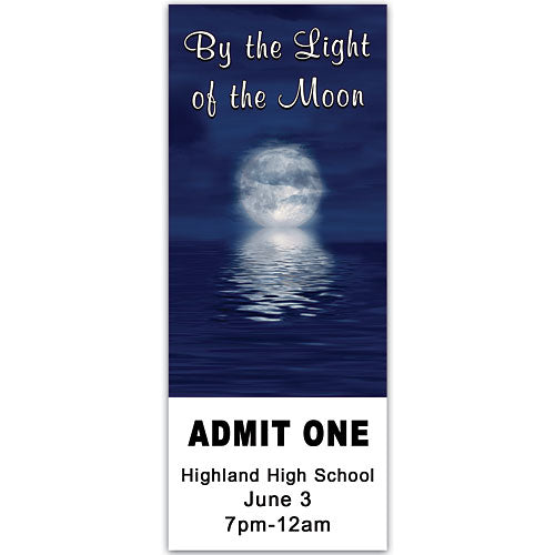 Ocean Moonlight Personalized Ticket