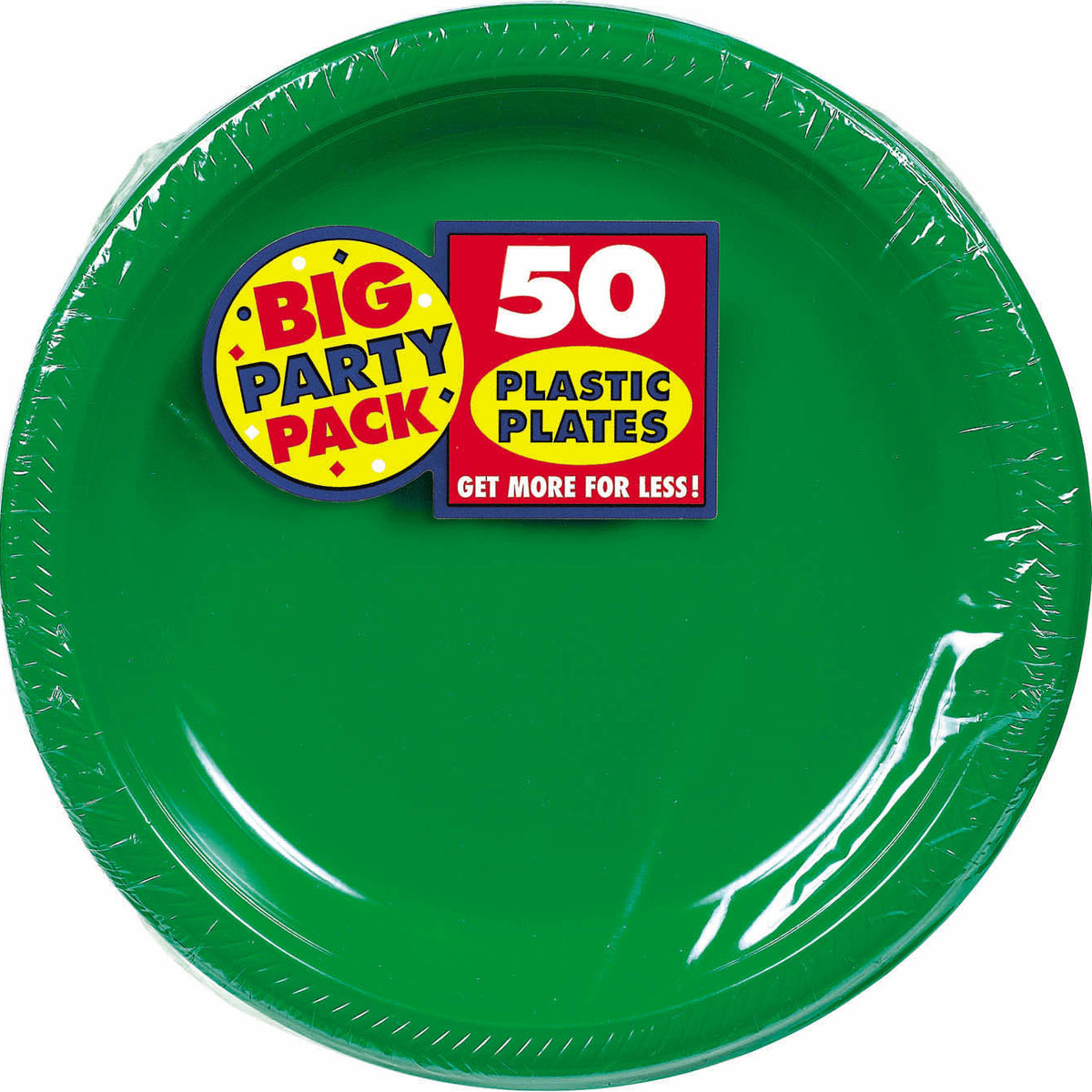 Green Big Party Pack Dinner Plates