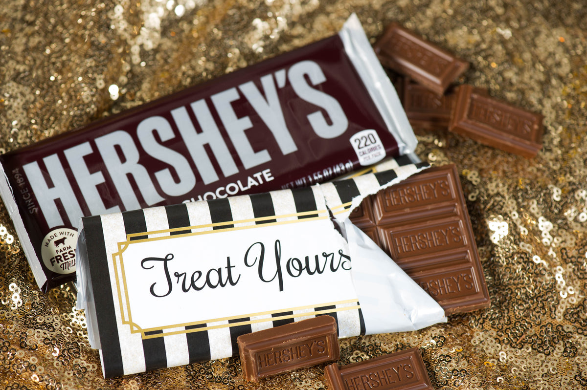 Hershey's Chocolate Silver Personalized Candy Bars