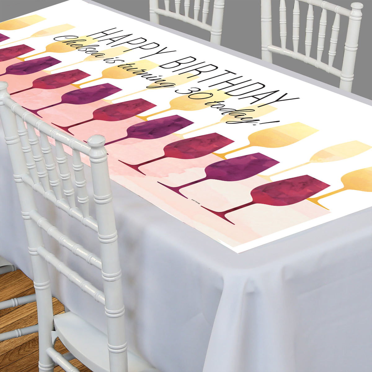Wine Time Rectangle Table Top-It