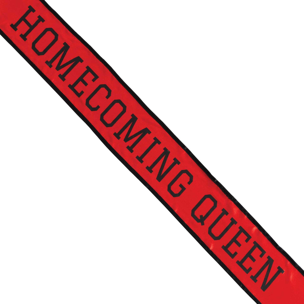 Red & Black School Color Homecoming Queen Sash