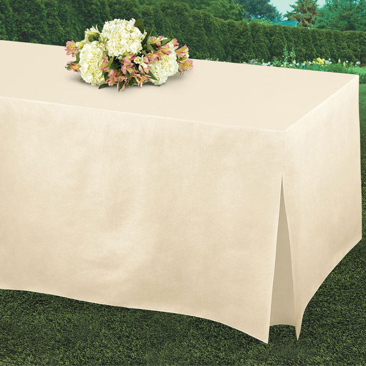 Ivory Tablefitters Table Cover