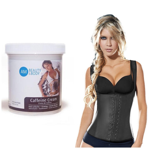 Vest+Caffeine Cream(Great Results For Back Fat, Posture, and Abdomen)