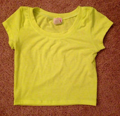 Crop Top(Yellow)