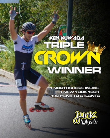 Ken Kuwada triple crown MPC Wheels Black Magic Junk Wheels Inline Speed Skating Roller Skates