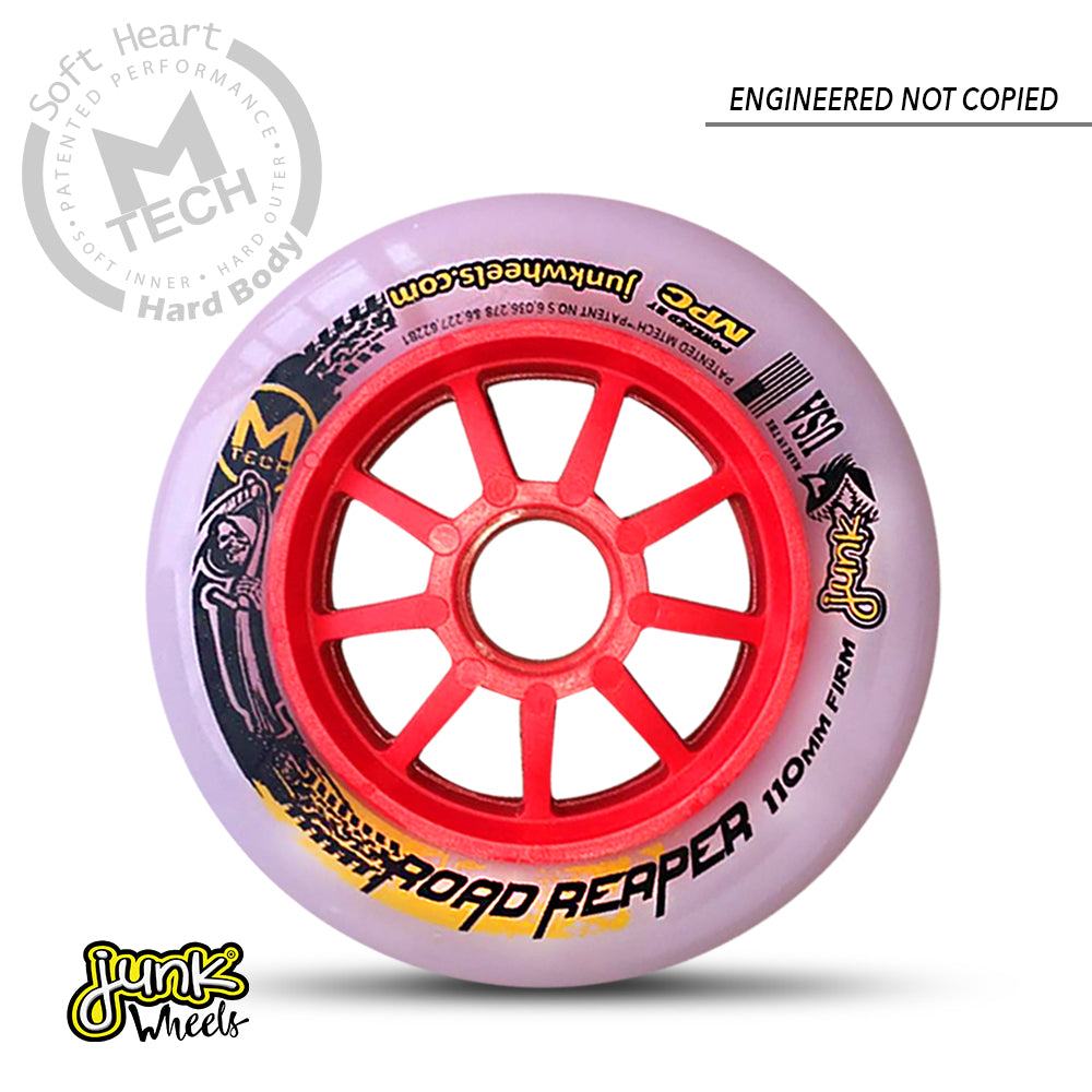 Junk Road Reaper inline speed skating wheels for track skating, road skating and marathon skating