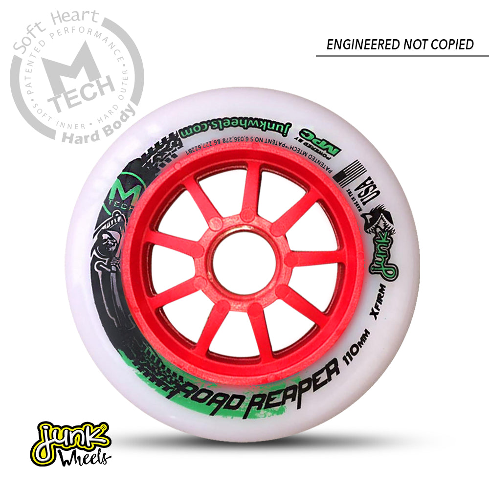 Junk RoadReaper 110 XFirm -  inline speed skating wheels for track skating, road skating and marathon skating