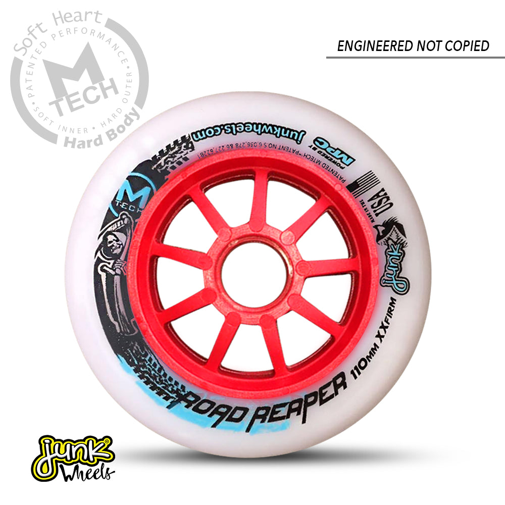 Junk RoadReaper 110 XXFirm -  inline speed skating wheels for track skating, road skating and marathon skating