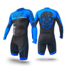 MPC Wheels Calavera Skinsuit Blue by Excel Skinz Inline Speed Skating Apparel
